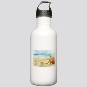 Starfish on Beach Water Bottle